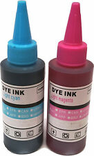 Printer Refill Ink Bottles for CISS Cartridges Light Cyan Light Magenta Inks