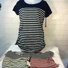 3 pack Liz Lange Maternity Short Sleeve Shirt Top Pregnant Choose Color