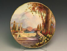 Stunning Royal Worcester Cabinet Plate Italian Terraced Garden signed G Evans