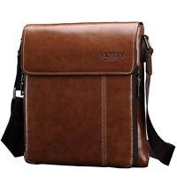 Men's Leather Satchel Shoulder Messenger Bag Crossbody Briefcase Business Tablet