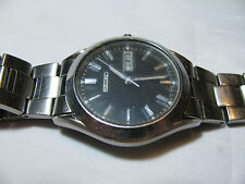 VINTAGE SEIKO DAY/DATE WATCH 7N43-9070  991865 STAINLESS with BLACK DIAL