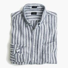 BRAND NEW WITH TAGS J.Crew SLIM DÉLAVÉ IRISH LINEN SHIRT IN PLAID / LARGE