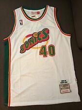 Shawn Kemp Throwback Seattle Supersonics Jersey Size Large