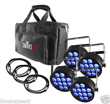 Chauvet SlimPACK T12 USB 4 rgb dmx led wash lights with bag and cable