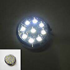 12v Car Round Ceiling Dome Roof Interior Light Lamp 9 Led On/Off Switch