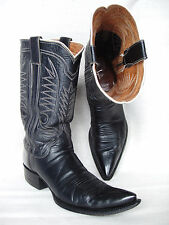 Mens Custom/Handmade Western/Cowboy Boots M L LEDDY Sz 9.5 AA Black Perfect