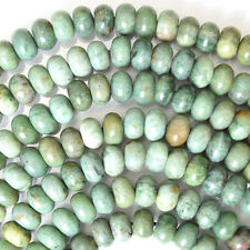 "8mm green dragon blood jasper rondelle beads 16"" strand"