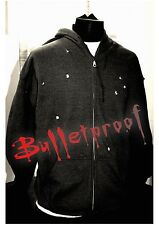 Bullet Hole Hoodie As Seen On Luke Cage Full Zip Charcoal Grey XXL 2 Extra Large