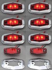 8x LED Arrière Rouge Cadre Chromé 12V feux de position Bus Camion Camping car