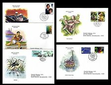 Royal Commonwealth Society. Lot of 5 Topical Envelopes. ORCHIDS + (BI#BX30)