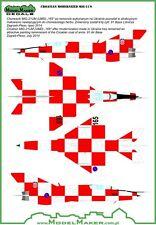 MiG 21 BIS-D / MiG-21 UM-D CROAT AF MKGS #48043 1/48 MODELMAKER