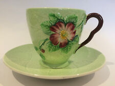 Art Deco Carlton Ware Wild Rose Cup and Saucer