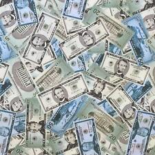 US American dollar cash money funky funny cotton fabric FQ
