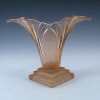 Walther & Sohne 1930's Art Deco Pink Glass 'Greta' Vase #2