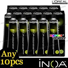 Any 10pcs L'Oreal Professionnel Inoa ODS2 Technology Color Cream Hair Dye 60g