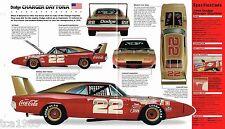 1969 DODGE CHARGER DAYTONA SPEC SHEET/Brochure: MOPAR/NASCAR, B. ALLISON