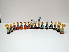 The Simpsons 3-D Chess PVC Figures 2002 cake topper figurine replacement 16pc