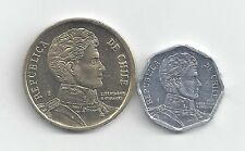 2 NICE COINS from CHILE - 1 & 10 PESOS (BOTH DATING 2013)