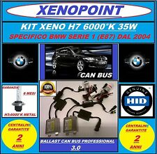 KIT XENON XENO H7 SLIM CAN BUS 12V/35W 6000K AC BMW SERIE 1 E87 PROFESSIONAL 3.0