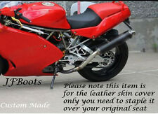Negro Y Rojo personalizado se adapta a Ducati Supersport 900 Ss 91-98 Asiento De Bicicleta piel cubierta sólo
