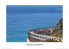Tour of California HIGHWAY 1 Premium Cycling POSTER Print by Graham Watson