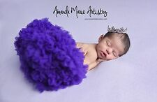 Mini Tiara Crown for Newborn Baby PhotoProp Crystal Rhinestone Purple Short 4031