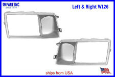 Mercedes W126 HeadLight Door Cover Fog Light Lens Both Sides Left & Right