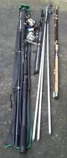 Bulk Lot Sea Fishing Tackle. 3 Rods. 2 Reels. Beach Stand. COLLECT York