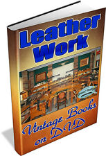 Leather Works 61 Vintage Books on DVD - tanning,shoes,belt,skin,bag,hide,coat