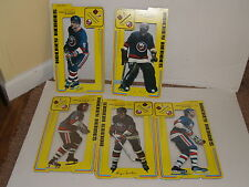1975 Cardboard Stand up Hockey Heroes Lot of 5 New York Islanders-3 are sealed