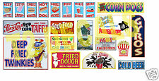HO Scale Circus Sideshow Carnival Food & Beverage Signage Decals #3