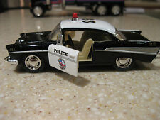 1957 CHEVROLET POLICE CAR DIE CAST 1:40 SCALE PULLBACK ACTION NEEDS NO BATTERIES