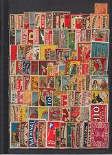 Ensemble de  100 Anciennes étiquettes allumettes   Suède différentes lot 1