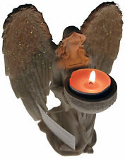 Kneeling 18 cm Holy Angel Figurine Tea light Candle Holder Ornament