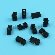 10pcs 2*5 10 Pin Double Row 2.54mm Straight Male IDC Socket Box header connector