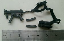 "1/6  MP5K sub machine gun with shoulder holster BBI BLUE toys for 12"" figure"