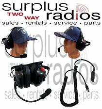 New Dual Muff Racing Headset For Motorola HT750 HT1250 HT1250LS MTX850 MTX950