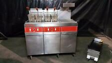 Vulcan 3GRD45 Two Bank Gas Fryer w/ Dump Station & Filtration