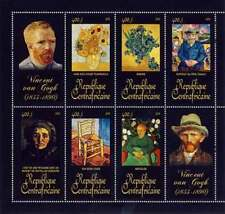Central Africa - Paintings by van Gogh - 8 Stamp Sheet - 3H-084