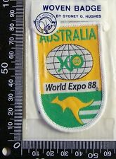 VINTAGE AUSTRALIA WORLD EXPO 1988 EMBROIDERED SOUVENIR PATCH WOVEN SEW-ON BADGE