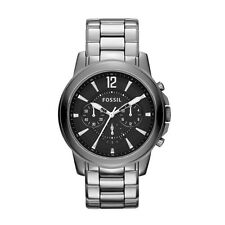Fossil Men's Black Dial Ceramic Watch Chronograph CHROME Round Face