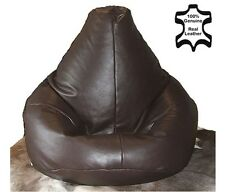 XxL REAL Leather Beanbag STUNNING Brown Adult Bean Bag