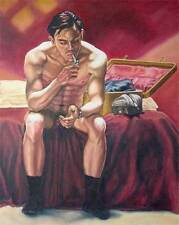 Oh boy, homme nu, canvas print nude male with baggage gay interest