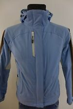 DC376 Women Salomon Blue Snow Skirt Waterproof Ski Jacket Size M / UK12