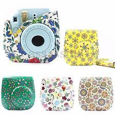 HOT Leather Camera Flower Case Bag Protector For Fujifilm Polaroid Instax Mini8