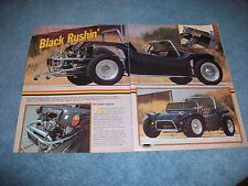 "1965 Meyers Manx Custom Dune Buggy Vintage Article ""Black Rushin"""