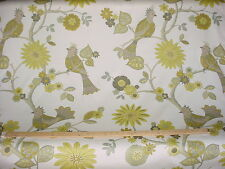 18+y DURALEE MOSS BIRD OF PARADISE / CITRINE FLORAL DRAPERY UPHOLSTERY FABRIC