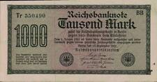 1923 Germany Weimar Republic Hyper Inflation 1.000 Mark Banknote