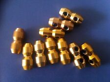 GO KART CABLE CLAMPS X 10 GOLD. FREE POST TOP QUALITY