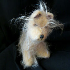 Vintage 1970 Russ Berrie Hairy Shaggy Puppy Dog Plush Stuffed Animal Nursery Toy